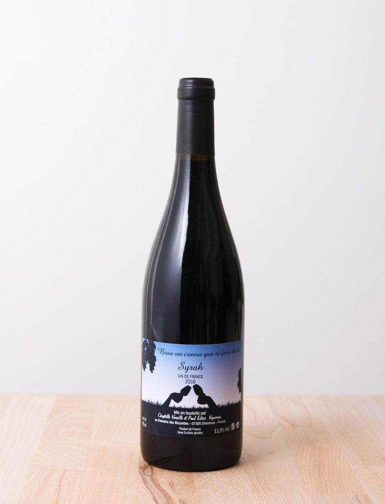 Vin de France Syrah Rouge 2016, Domaine des Miquettes